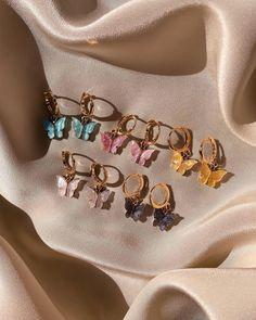 Ear Jewelry, Dainty Jewelry, Cute Jewelry, Gold Jewelry, Jewelry Accessories, Women Jewelry, Gold Bracelets, Jewellery Earrings, Trendy Jewelry