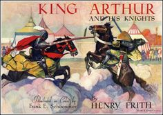 Frank E. Schoonover ~ Title Page ~ King Arthur by Henry Frith ~ Garden City Publishing ~ 1932