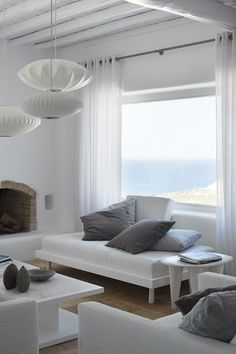 Newly renovated summer house on Mykonos, Greece. Designer Jayne Wunder. Let me be Inspired blog.