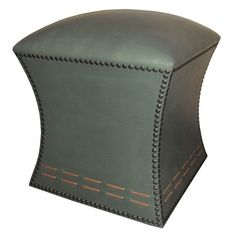 I pinned this Cleo Leather Ottoman in Gray from the Villena Home event at Joss and Main!