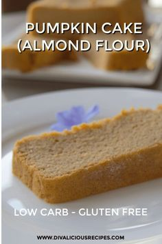 This pumpkin cake baked with almond flour yields a very moist cake. Low carb and gluten free too. #keto #pumpkin #lowcarb #grainfree #ketodiet #glutenfree Coconut Flour Bread, Baking With Almond Flour, Almond Flour Recipes, Almond Flour Cakes, Low Carb Bread, Low Carb Keto, Low Carb Recipes, Keto Bread, Free Recipes