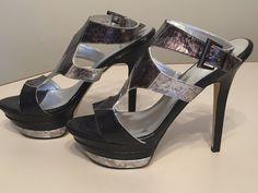 Baker's Women's High Heel Platform Stiletto Open Toe Shoes Size 9.5 NEW  #Bakers #Stilettos #heels #platform #highheels #sexy #cute #valentines #ebay #party #elegant #dressy #formal