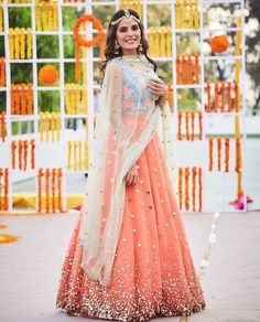 Love this coral hearts lehenga by Papa Don't Preach #Frugal2Fab