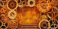Steampunk #backdrops #decades #eventdesign