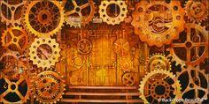 Steampunk #backdrops #decades #eventdesign