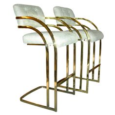 fabulous brass bar stools milo baughman