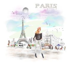 """Paris♡♡♡"" by califorina-girl ❤ liked on Polyvore featuring art"