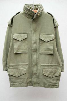 Olive Oversized M65 Jacket by NLST $575 shopheist.com