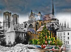 La cathédrale avant/après - Reims Avant http://reimsavant.over-blog.com