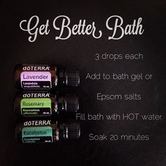 Add oils to Epsom Salts.