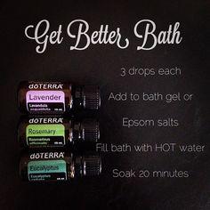 Add oils to Epsom Salts.