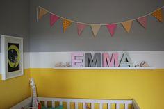 Babyzimmer einrichten in gelb und grau