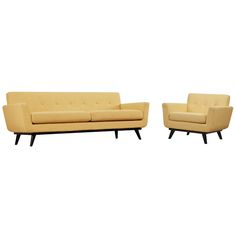 TOV Furniture James Mustard Yellow Linen Chair and Sofa TOV-A55-S20S-Y