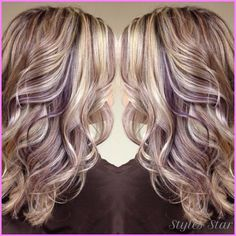 awesome Blonde hair with purple lowlights