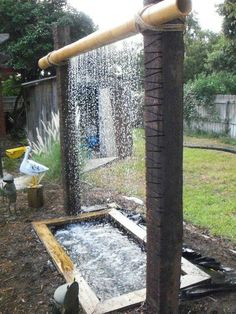 Bamboo waterfall