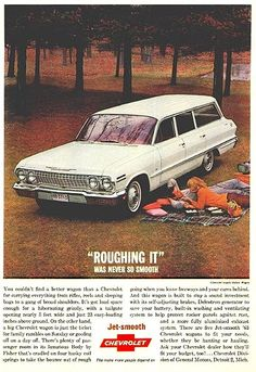 1963 Chevrolet Impala Station Wagon, my neighbors growing up had one of these in blue. Chevrolet Chevelle, Chevrolet Impala, Chevrolet Auto, Station Wagon, Best Wagons, Car Advertising, Us Cars, Retro Cars, Vintage Ads