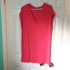 Oversized sleep shirt Incredibly soft and brand new. Literally ripped the tags off thinking I was going to use it and never did. It's been in my closet for ever! It's kind of a coral color.  Feel free to make an offer. •No Trades• Victoria's Secret Intimates & Sleepwear Pajamas