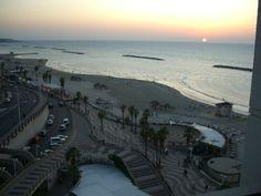 Tel Aviv, Israel, Tayelet at sunset