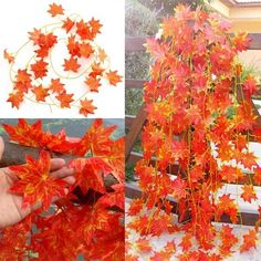 S, 2.3m Artificial Ivy Red Maple Plastic Fake Leaves Garland Home Garden Decorat: Bid: 9,42€ Buynow Price 9,42€ Remaining 09 dias 04 hrs 2m…