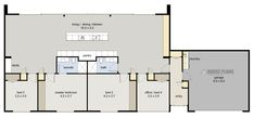 Symmetry + garage floor plan 212m2