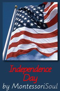 Lots of ideas for craft and Art activities for Independence day - Free montessori printables too