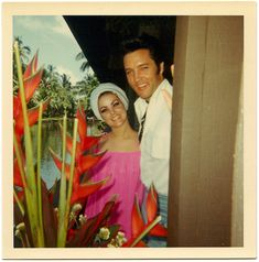 Elvis and Priscilla @ the Coco Palms Resort, 1960