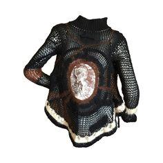 Jean Paul Gaultier Crochet Cardigan Sweater