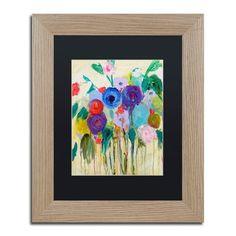 "Trademark Art 'Cest La Vie' Framed Painting Print Frame Color: Brown, Mat Color: White, Size: 20"" H x 16"" W x 0.5"" D"