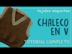 ESCOTE o CUELLO en V. Tejido con dos agujas #190 - YouTube