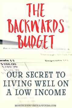 How to Budget Backwards and Stop Living Beyond Your Means - Finance tips, saving money, budgeting planner Budgeting Finances, Budgeting Tips, Budgeting System, Making A Budget, Making Ideas, Ways To Save Money, Money Saving Tips, Money Tips, Money Budget