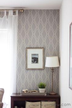 Retro Home Decor Ideas ~ retro modern removable wallpaper accent wall - Devine Diamond in Twig by @target