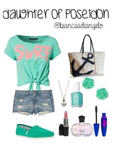 percy jackson: if percy was a girl l Daughter of Poseidon outfit