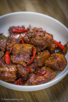 Extremely Spicy Pork Belly Adobo Recipe Extremely Spicy Pork Adobo na Tuyo - This is a recipe for Extremely Spicy Pork Adobo na Tuyo (dry pork adobo) Pork Belly Adobo Recipe, Pork Belly Recipes, Spicy Recipes, Asian Recipes, Mexican Food Recipes, Beef Recipes, Cooking Recipes, Ethnic Recipes, Recipe For Adobo