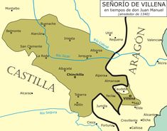 Juan Manuel, Prince of Villena - Wikipedia, the free encyclopedia Valencia, Spain History, Ap Spanish, Don Juan, Historical Maps, Geography, Literature, Prince, Alicante