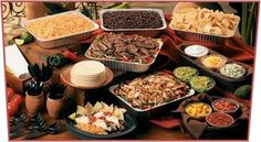 Party Food Ideas For Adults Buffet Families Taco Bar Ideas Taco Bar Buffet, Nacho Bar, Party Buffet, Gourmet Catering, Catering Ideas, Catering Display, Taco Bar Party, Fiesta Party, Party Party