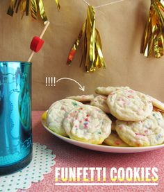 FUNFETTI COOKIES- these are for you @Sarah Schepens
