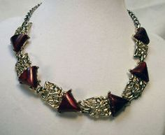 Terrific Thermoset Burgundy Beauty Necklace   $28.00