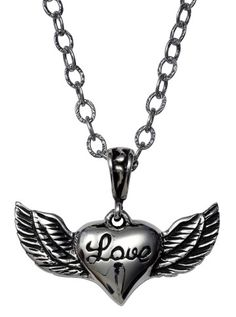 """""""Lovely Wings"""" Charm Necklace by Femme Metale"""
