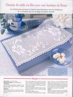Filet crochet table runner - Pattern: http://www.pinterest.com/pin/374291419005220259/