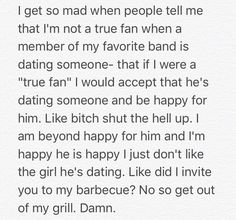 Hahahahahah! I didn't invite you to my bbq so why you all up in my grill?!<<<<so this is about 5sos....am I the only one who had arzaylea come to mind first<<<<<lmao same<<it's because she's a bitch<<<<<<<<<<when Pinterest gets heated