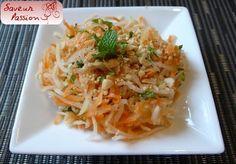 Lors du Têt , j'avais également préparé une salade de carotte et papaye verte à la vietnamienne, toute simple, dont la recette provient de ce site . Mais sans les crevettes... Faites le plein de fraîcheur, même en dehors de cette période festive ! Ingrédients...