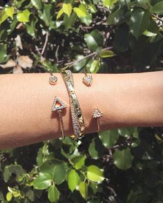 C&S Love Twist Bracelet surrounded by To the Point Cuff Bracelet and Arrow Cuff Bracelet! Sold exclusively at www.chicandshine.com <3 #chicandshine #bracelets
