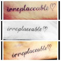 My Tattoo, My Best-friend's & My Younger Sisters Tattoo :) The Bond We Share & The Lives We Lead are Unlike ALL Others, Truly Irreplaceable <3
