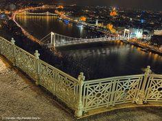 River Danube in night - Budapest, Hungary