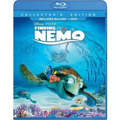 Finding Nemo (Three-Disc Collector's Edition Blu-ray/DVD in Blu-ray... ($2.99) ❤ liked on Polyvore featuring disney and dvd