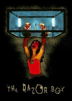 "Saw Traps The Razor Box artwork by artist ""Bo Kev"". Horror Movie Characters, Horror Movies, Slasher Movies, Horror Villains, Chucky, Saw Traps, Saw Film, Jigsaw Saw, Horror Artwork"