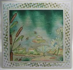 I need to stamp: Frog's in the pond / Kikkers in een vijver