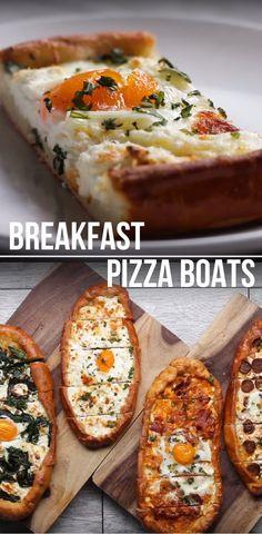 Breakfast Pizza Boats Best Video Recipe #breakfast #pizza #lunch #eggs