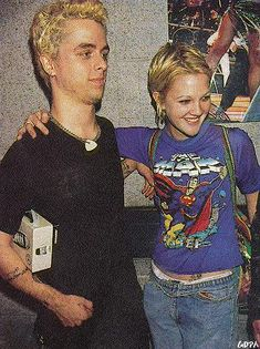 Drew Barrymore with Billie Joe Armstrong