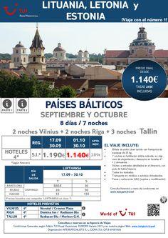 Oferta Países Bálticos: Lituania, Letonia y Estonia. Precio final desde 1.140€ - http://zocotours.com/oferta-paises-balticos-lituania-letonia-y-estonia-precio-final-desde-1-140e-7/